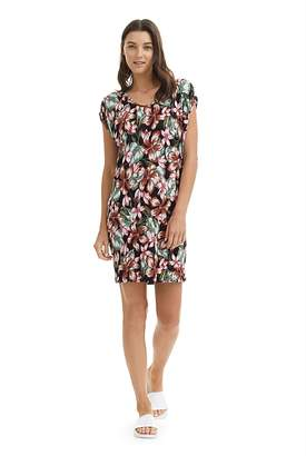 Country Road Hibiscus Print Linen Dress