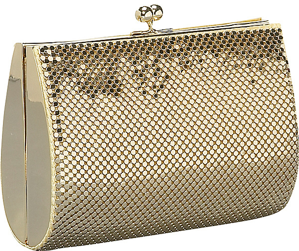 Whiting & Davis Whiting and Davis Hard Sided Mesh Clutch