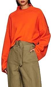 J.W.Anderson Women's Wool-Cashmere Crop Sweater - Tangerine