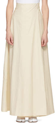 Awake White Wide-Leg Trouser Skirt