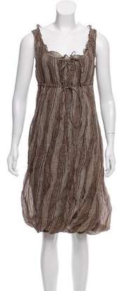 Tocca Striped Knee-Length Dress