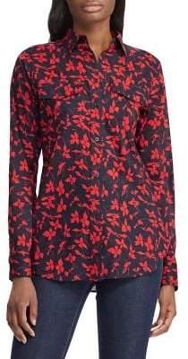 Lauren Ralph Lauren Straight-Fit Floral-Print Cotton Shirt