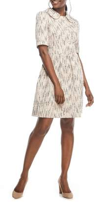 Gal Meets Glam Paige Cutaway Collar Tweed Dress