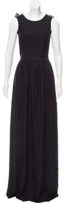 Fendi Appliqué-Accented Evening Dress w/ Tags