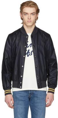 MAISON KITSUNÉ SSENSE Exclusive Black Teddy Bomber Jacket