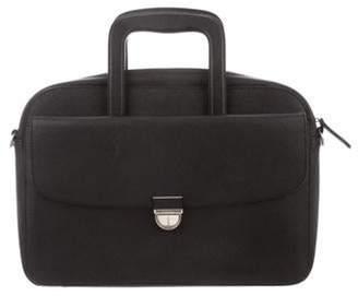 Giorgio Armani Textured Leather Briefcase black Textured Leather Briefcase