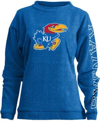 Pressbox Women's Kansas Jayhawks Comfy Terry Sweatshirt