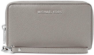 Michael Kors Mercer Pebble Leather Multi Function Phone Case