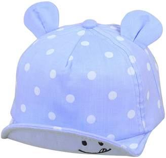Lee Evelin Newborn Toddler Baby Boys Girls Dot Pattern Summer Sun Hat with Ear
