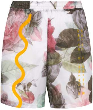 Soulland floral print running shorts