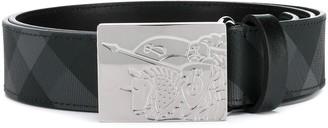 Burberry plaque buckle belt