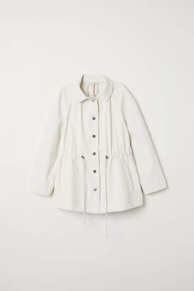 H&M Coated Cotton Jacket - Cream - Women