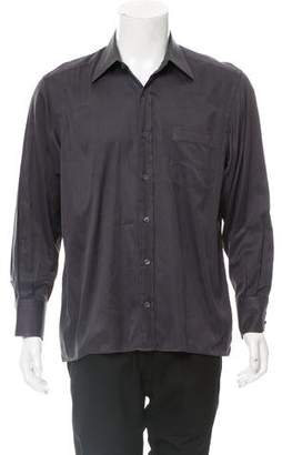 Tom Ford Herringbone Button-Up Shirt