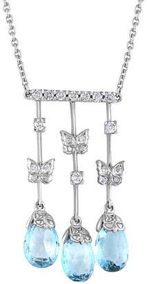 Carrera Heritage Y  Y 18K 60.45 Ct. Tw. Diamond & Topaz Butterfly Necklace