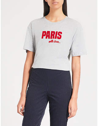 Sandro Paris cotton-jersey T-shirt
