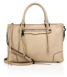 Rebecca Minkoff Regan Nubuck Leather Satchel $325 thestylecure.com