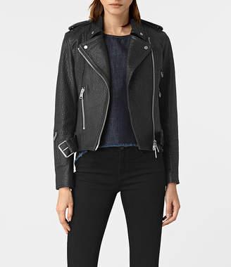 AllSaints Stayte Leather Biker Jacket