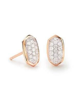 Kendra Scott Amelee 14k Rose Gold Diamond Stud Earrings