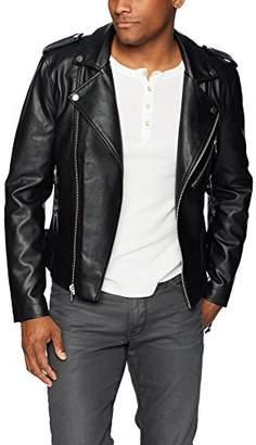 GUESS Men's Long Sleeve Snake Tassel Moto Jacket