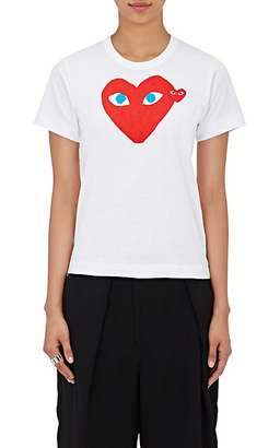 Comme des Garçons PLAY Women's Graphic Cotton T-Shirt $120 thestylecure.com