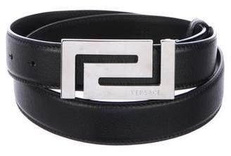 Versace Skinny Leather Belt