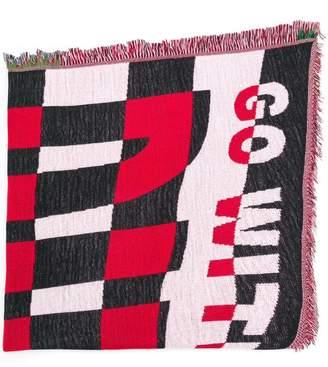 Diesel Red Tag jacquard scarf