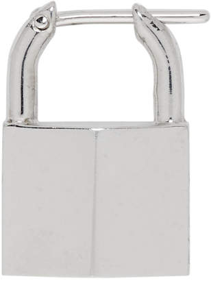 Lauren Klassen Silver Single Small Padlock Earring
