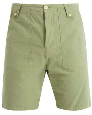 The Lost Explorer - Chur Mid Rise Cotton Chino Shorts - Mens - Green
