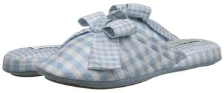 Patricia Green Silk Check Women's Slippers