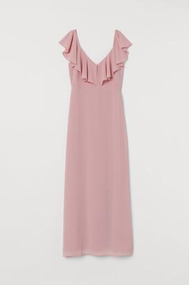 H&M Long Chiffon Dress - Pink
