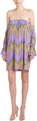 T-Bags LosAngeles tbagslosangeles Tbagslosangeles Ruffled Off-The-Shoulder Dress