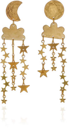 We Dream In Colour Stargazer Mismatched Brass Earrings