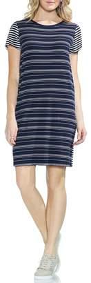 Vince Camuto Mixed Stripe T-Shirt Dress