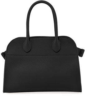 The Row Margaux 10 Grained Calf Leather Top-Handle Bag