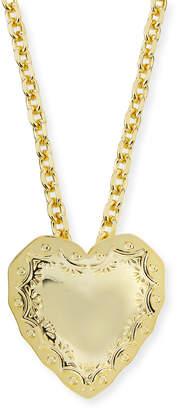 Fallon Repousse Heart Pendant Necklace