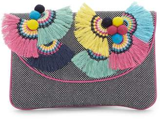 Vince Camuto Witan Woven Embellished Clutch
