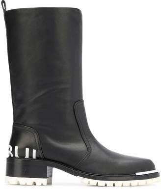 Barbara Bui round toe knee boots