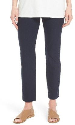 Women's Eileen Fisher Stretch Crepe Slim Ankle Pants $168 thestylecure.com