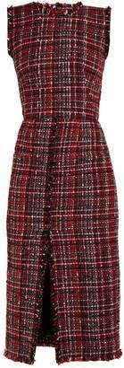 Alexander McQueen Tweed pencil dress