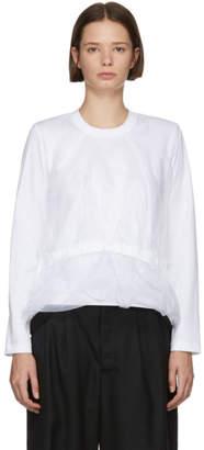 Noir Kei Ninomiya White Organza Body T-Shirt