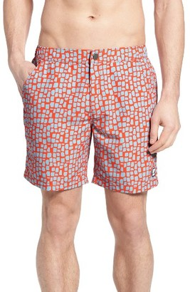Men's Tom & Teddy Skin Print Swim Trunks $125 thestylecure.com