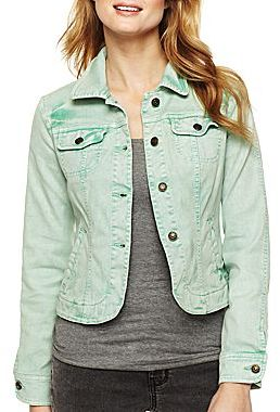 JCPenney a.n.a® Cropped Denim Jacket