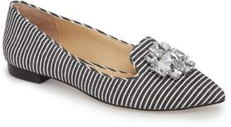 Sole Society Libry Crystal Embellished Flat