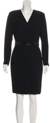 Ellen Tracy Linda Allard Long Sleeve Knee-Length Dress