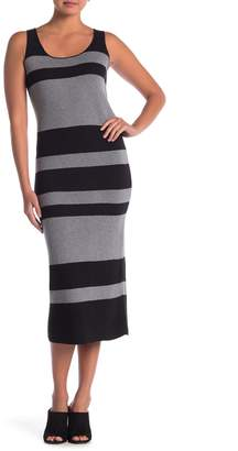 Catherine Malandrino Sleeveless Scoop Stripe Dress