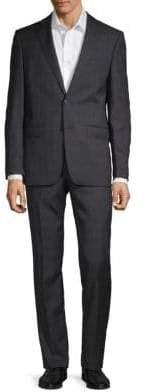 Calvin Klein Extra Slim Glen Plaid Wool Suit