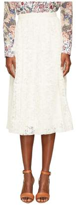 See by Chloe Lace and Pleats Skirt Women's Skirt
