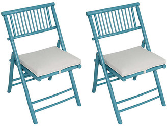 One Kings Lane Set of 2 Champion Side Chairs - Turquoise