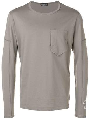 Stone Island Shadow Project printed long sleeved T-shirt