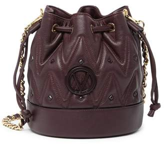 Mario Valentino Valentino By May D Sauvage Quilted Leather Bucket Bag